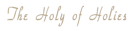 The Holy of Holies title
